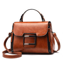 Vintage Leather Female Top-handle Bags Small Women Shoulder Bag Crossbody Messenger Bag Casual Handbags