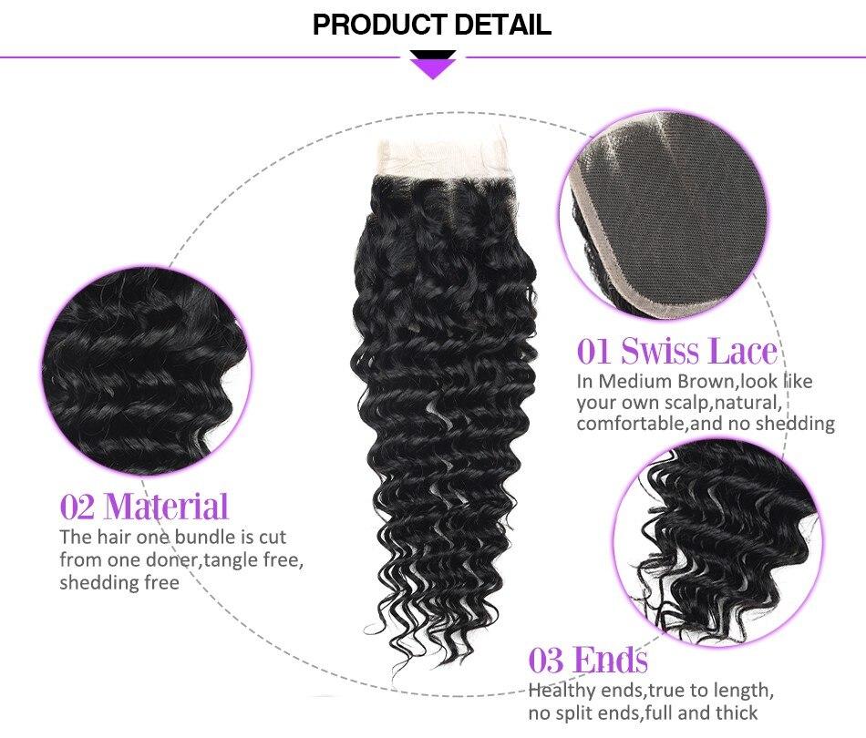 para as mulheres pré arrancado linha fina 4x4 fechamento do laço peruca