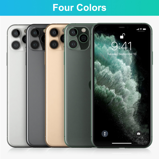 """100% Original Apple iPhone 11 Pro Max OLED Triple Rear Camera Cellphone 6.5"""" 4GB ROM 64/256GB Face ID A13 Chipset Unlocked Used 5"""
