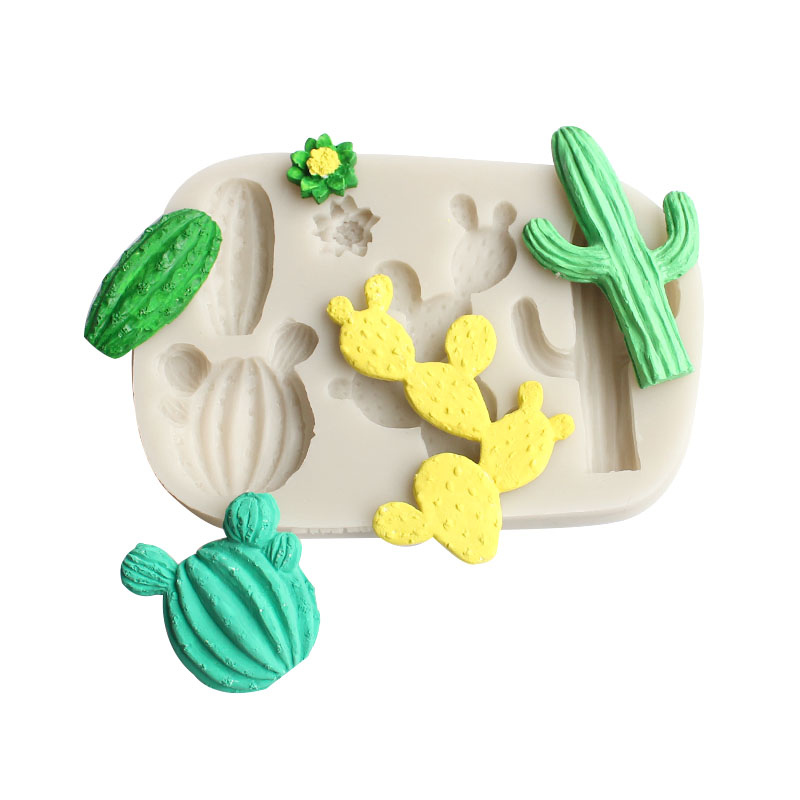 Cactus Plant Silicone Mold DIY Fondant, Clay, Plaster, Resin, Candle, Soap Crafts, Decorative Silicone Mold