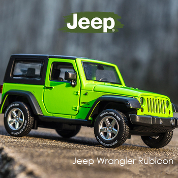 1:32 Jeep Wrangler Rubicon Alloy Model Car Diecasts Metal Toy Off-road Vehicles Model Collection High Simulation Kids Toy Gift 1