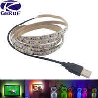 LED Strip Light USB 2835 SMD DC 5V Flexible LED Lamp Tape Ribbon RGB 0.5M 1M 2M 3M 4M 5M TV Desktop Screen BackLight Diode Tape