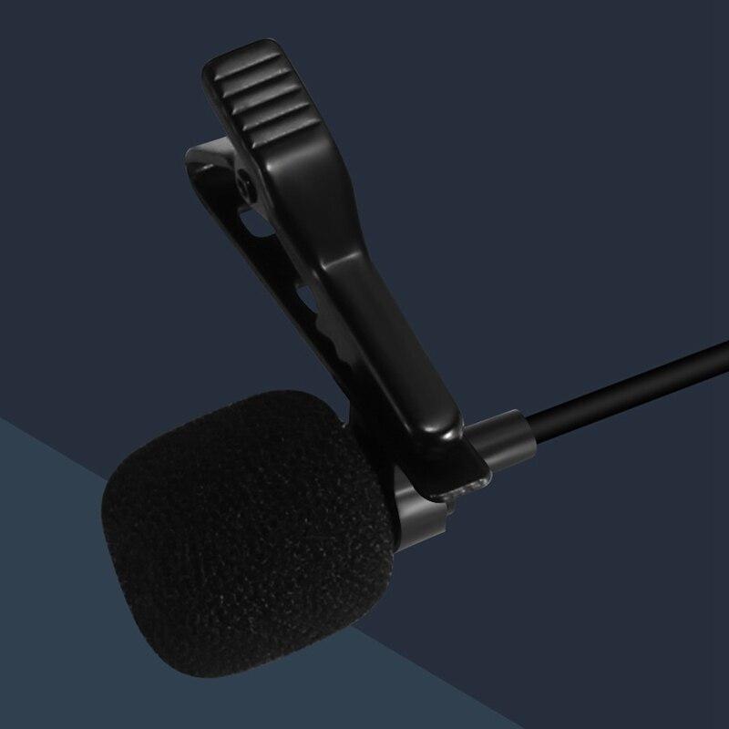 Петличный микрофон с отворотом конденсатор микрофон всенаправленный шумоподавление перезарядка для камеры и телефона