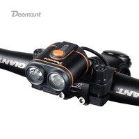 400 루멘 자전거 헤드 라이트 8.4V 자전거 전면 램프 듀얼 칩 8.4V 5.0V 출력 사이클링 조명 옵션 5 모드 자전거 라이트 IPX 6