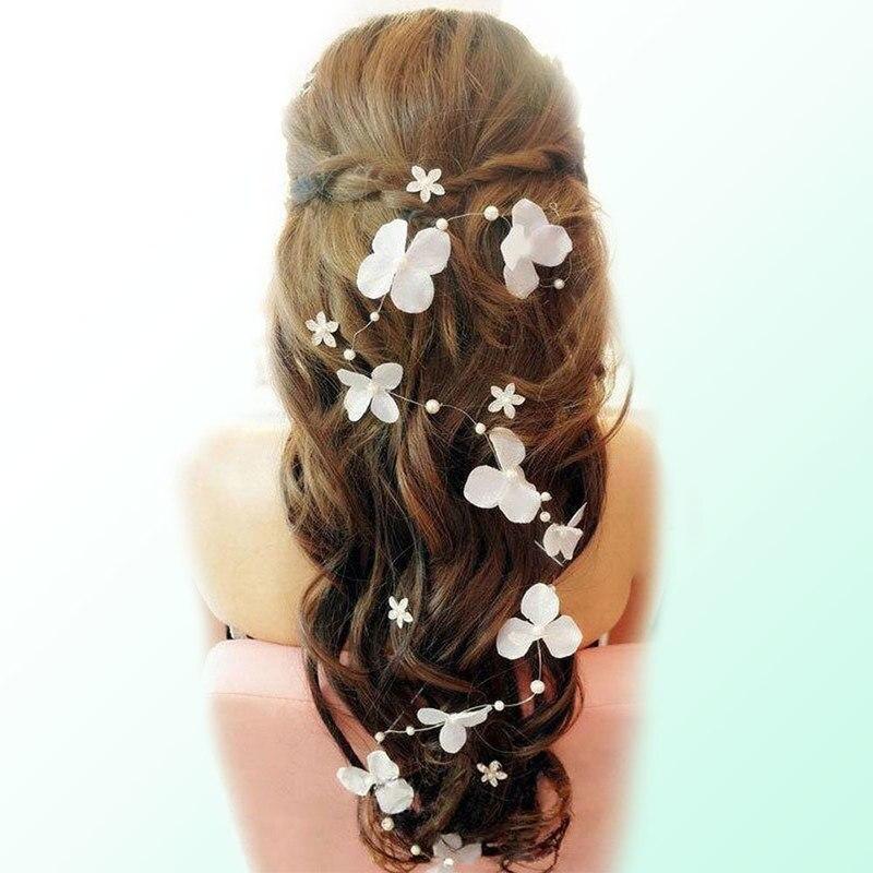 Свадебное платье для невесты с жемчугом и цветком, ювелирные изделия ручной работы, аксессуары для волос, свадебное украшение