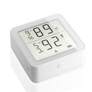 Image 2 - Sensor inteligente de temperatura y humedad con WiFi, dispositivo con pantalla LCD, funciona con el asistente de Google Alexa, Control de enlace con Tuya