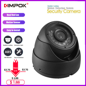 KIMPOK Security Dome Fake Camera Red Flash LED Light Outdoor Video Surveillance Safety kamera Buy 1 Get 1 Free Warning Sticker