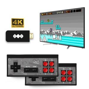 Dane żaba USB bezprzewodowy ręczny konsola do gier TV wideo budować w 600 klasyczna gra 8 Bit Mini konsola gier wideo wsparcie AV/wyjście HDMI