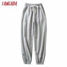 Tangada – pantalon cargo gris pour femme, survêtement ample à la mode, streetwear, TM2