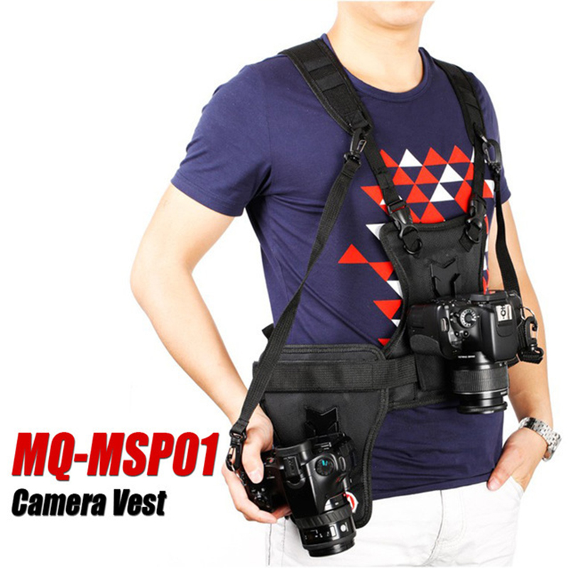 Camera Carrier Photographer Vest Shoulder Holster Strap Professiona Camera Dual Strap Quick Catch Belt Buckle Camera Accessories