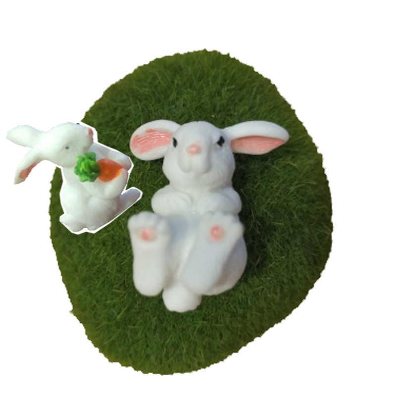 Thỏ Phục Sinh Thu Nhỏ Thỏ Rừng Động Vật Hình Nhựa Landschaft Thủ Công Bunny Vật Trang Trí Vườn Cổ Tích Статуэтки Phụ Kiện