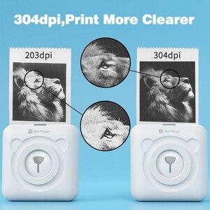 Image 2 - Peripage A6 미니 사진 블루투스 프린터 304 인치 당 점 포켓 포토 프린터 마커 휴대 전화 안드로이드 및 iOS 선물 프린터 용지