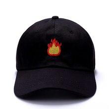 men cap summer fire flame embroidery baseball cap