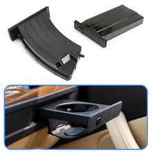 Car Front Left Right Cup Holder Drink Rack For BMW E60 E61 5 Series 2003 2010 Black Cup Holders Car Accessories 51459125622