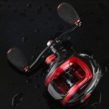 Logam Reel Baitcast Reel 6.3: 1 Panjang Fishing Reel 8   1BB untuk Kiri/Kanan Tangan Roda Dual Sistem Rem Spinning Reel untuk Memancing