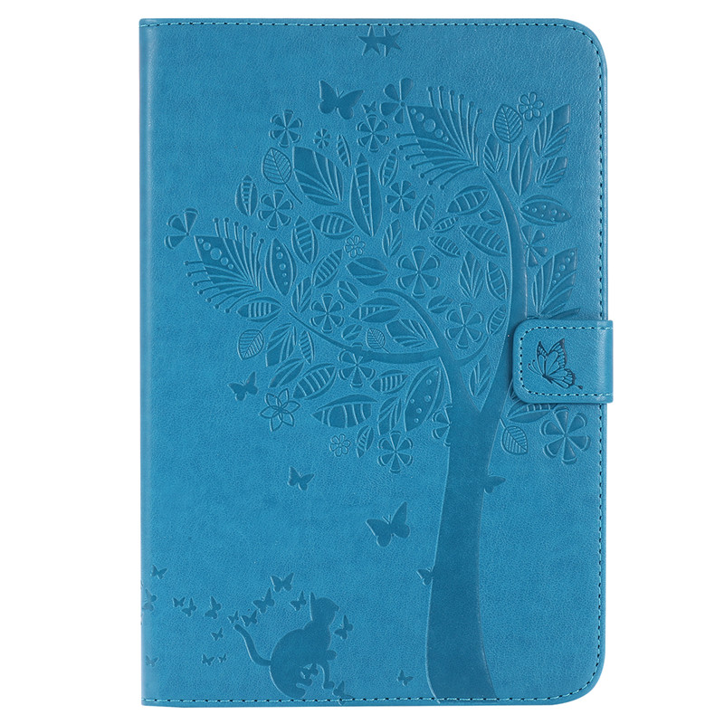 For Samsung Galaxy Tab A 8.0 '' T355 T350 T351 Case Luxury Cartoon Cat And Tree Leather Flip Case Stand Full Cover Capa