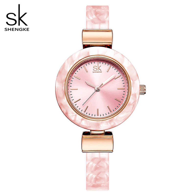 Shengke Bracelet Women Watches For Lady Fashion Dress Bangles Charming Chain Style Watch Women Quartz Women Dress Watch 2018