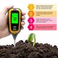 4 в 1 Цифровой измеритель PH почвы измеритель влажности Измеритель температуры солнечного света с подсветкой для растений садовый инструмен...