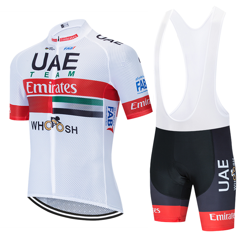 TEAM Emirates 2020 UAE Cyling Jersey Bike Pants Clothing Suit Men 20D Summer Quick Dry Pro BICYCLING Shirts Maillot Culotte Wear