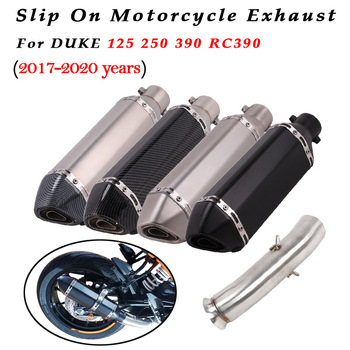 universal 51mm 61mm motorcycle exhaust muffler pipe escape exhaust carbon fiber for yamaha mt10 t max 500 bws 125 dt 125 mt 125 Slip on 51mm Motorcycle Exhaust System Muffler Escape Modified Middle Link Pipe For DUKE 125 250 390 RC390 2017 18 19 2020 Years