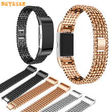 Watch Strap Metal For Fitbit Charge 2 Smart Watch Band Bracelet Adjustable Replacement Watch Wristband Smart watch accessories(China)