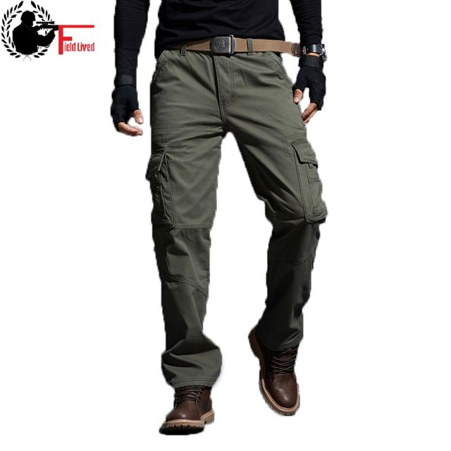 Mens Pants Thickening Trouser Velvet Winter Warm Jogger Male Military Style Army Casual Fleece Lined Pants Working Coverall Work