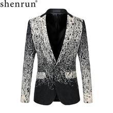 Shenrun blouson de costume pour homme, veste classique de luxe Unique, Costumes de mariage, scène de bal, 5XL 6XL, grande taille, décontracté