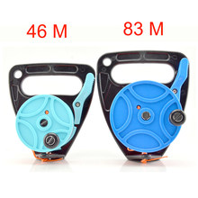150 272FT Scuba Diving Reel Spool Finger Line Retractable Reels With handle Stopper for Snorkeling Underwater Water Sports Gear(China)