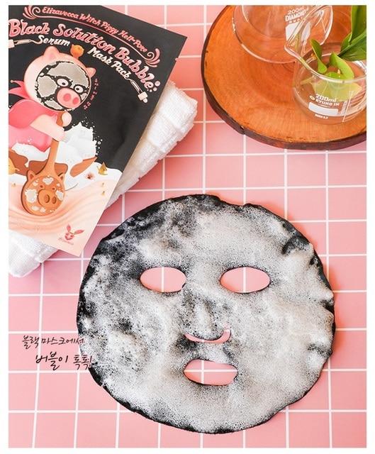 Elizavecca Witch Piggy Hell-Pore Black Solution Bubble Serum Mask Pack 5ea Deep Cleansing Skin Care Acne Treatment Pore Cleanser 3