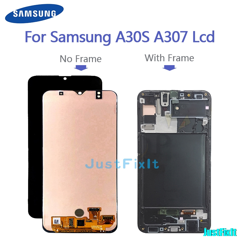 Replacement 6.4' Touch Screen Digitizer Assembly For <font><b>Samsung</b></font> <font><b>Galaxy</b></font> <font><b>A30s</b></font> <font><b>LCD</b></font> A307F A307FN A307G A307GN A307YN Display With Frame image
