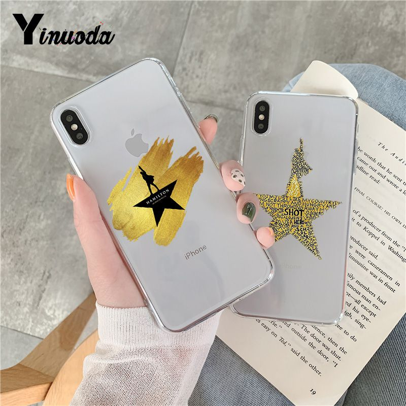 Yinuoda For iphone 7 XSMAX Case Hamilton Transparent Phone Cover Case for iPhone 8 7 6 6S Plus X 10 5 5S SE XR XS XSMAX image