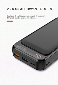 Image 3 - Jellico Power Bank 20000mAh LED Portable Battery Power Bank PD Fast Quick Charge 12V Powerbank for iPhone Xiaomi mi Power Bank