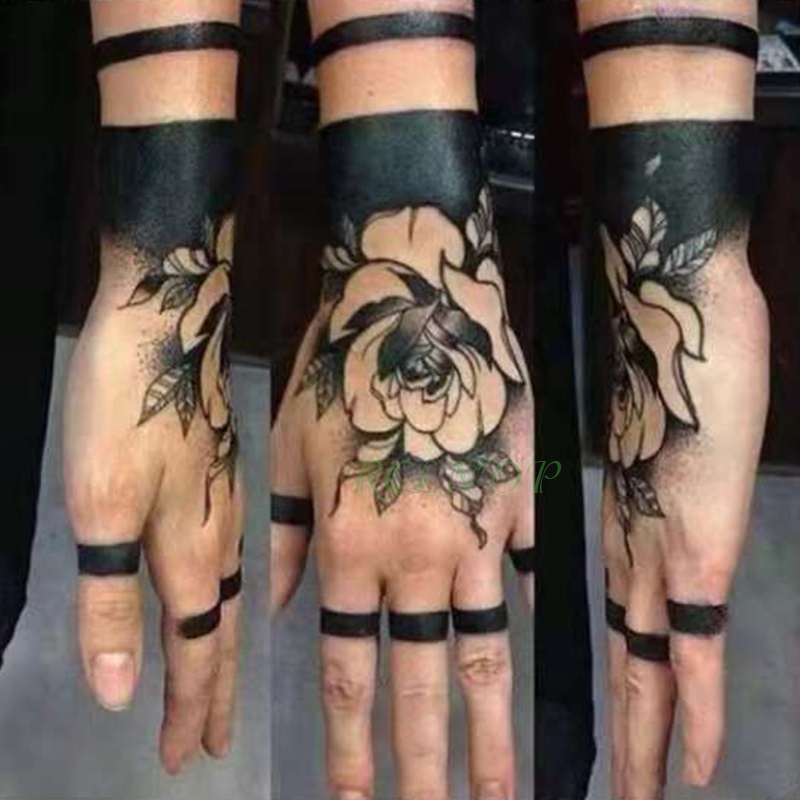 Waterproof Temporary Tattoo Sticker Rose Other Flower Fake Tatto Flash Tatoo Hand Arm Foot Back Tato Body Art For Girl Women Men