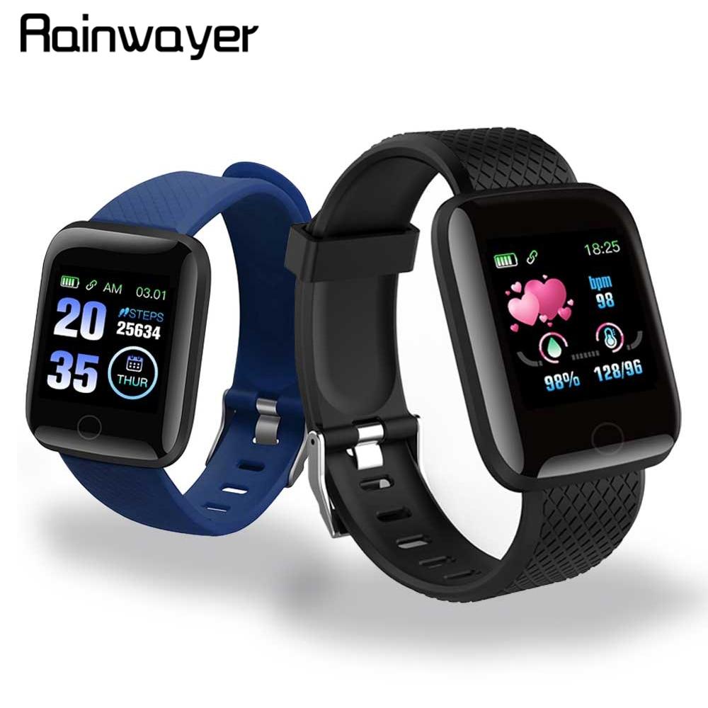 Em Estoque! D13 relógios inteligentes 116 mais freqüência cardíaca relógio inteligente pulseira esportes relógios banda inteligente à prova dwaterproof água smartwatch android a2 1