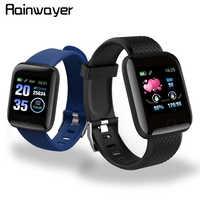 Auf Lager! D13 Smart Uhren 116 Plus Herz Rate Uhr Smart-Armband Sport Uhren Smart Band Wasserdichte Smartwatch Android A2