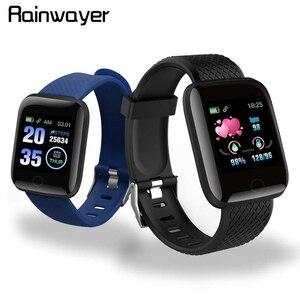 В наличии! D13 Смарт-часы 116 плюс пульсометр смарт-браслет спортивные часы Смарт-браслет водонепроницаемые Смарт-часы Android A2