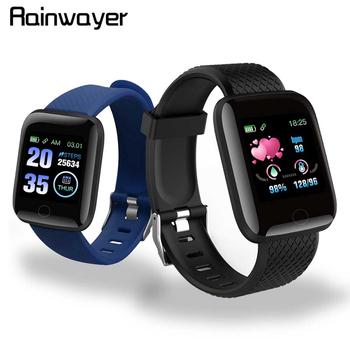 W magazynie! D13 inteligentne zegarki 116 Plus zegarek mierzący uderzenia serca inteligentna opaska na rękę zegarki sportowe inteligentna opaska wodoodporna Smartwatch Android A2 tanie i dobre opinie Rainwayer Brak Other 128 MB Week English Życie Wodoodporna 120-180 mAh None Elektroniczny Plac 1 3inches Dla dorosłych