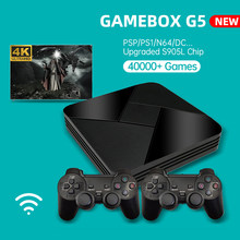 Powkiddy gamebox g5 s905l wifi 4k hd super x console 40000 + retro clássico jogo mini tv caixa de vídeo player para ps1 psp n64 mame dc