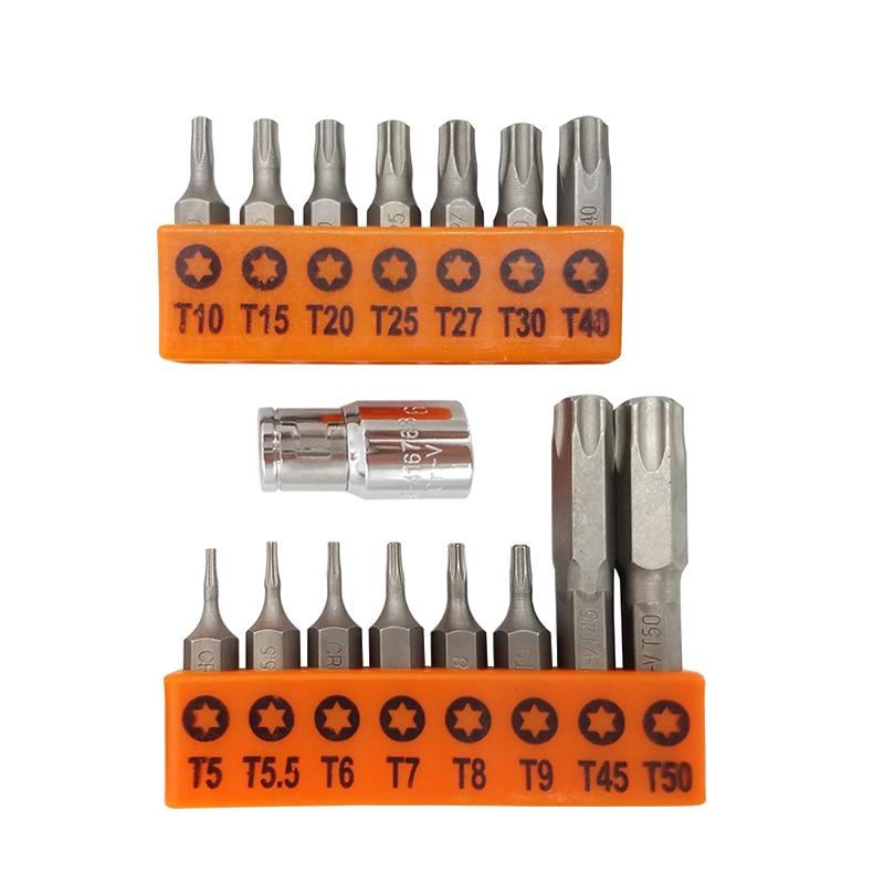 T40 TX Bits T15 T25 T27 T30 T35 Torx Bits 50mm LANG Biteinsatz Bit T9 T20