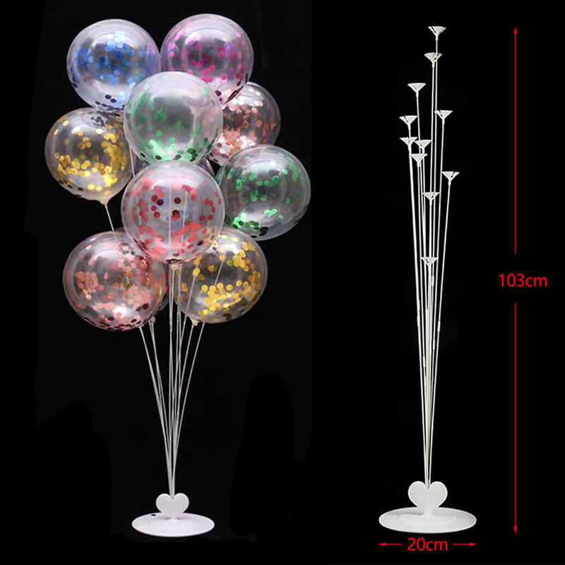 7/11/19tube Balloons Stand Balloon Holder Column Wedding Party Decoration Baloon Kids Birthday Party Balons Baby Shower Supplies 2