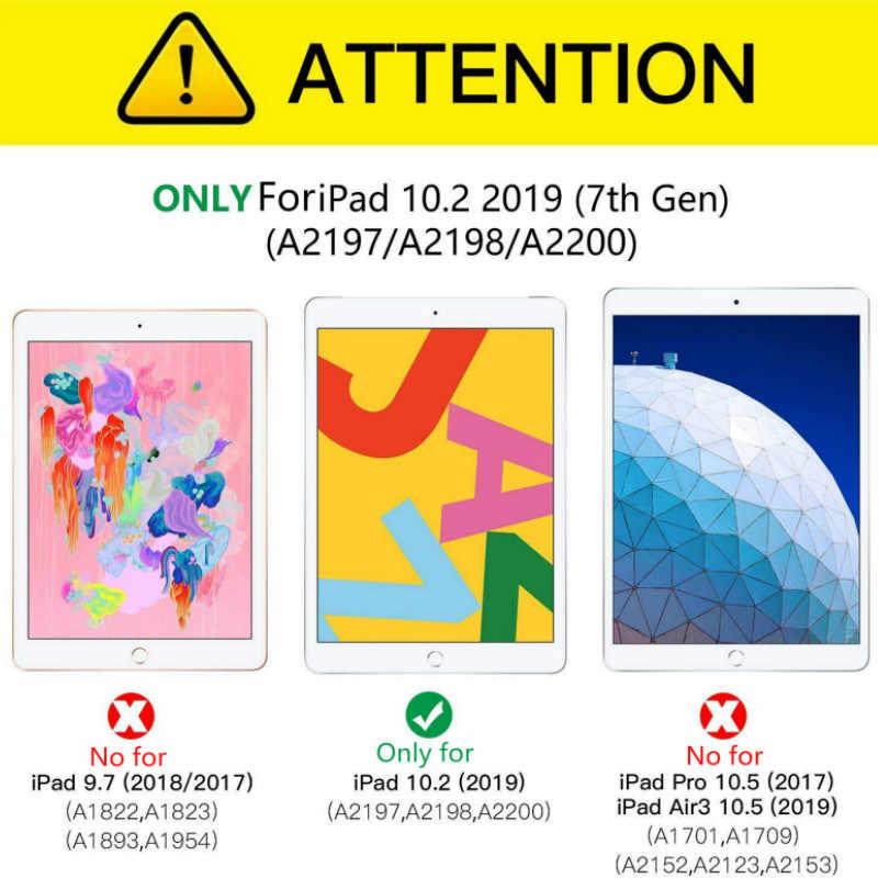 حافظة لجهاز iPad 7th Gen 2019 10.2 ، حافظة جلدية ذكية مغناطيسية من الجلد الصناعي لهواتف iPad 10.2 2019