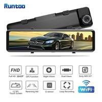 "Car DVR 2160P 12"" 4K Sony IMX415 Rear View Mirror Camera GPS FHD 1080P Rear Camera Dash Cam Video Recorder Registrar with Mount 2"
