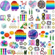 70 estilos brinquedos de inquietação 22/23/24/30/32 pces pacote brinquedo sensorial conjunto anti estresse alívio autismo ansiedade anti bolha de estresse para crianças adultos