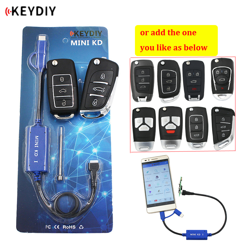 KEYDIY Mini KD Key Generator Remotes Warehouse in Your Phone Support Android Make More Than 1000 Auto Remotes   B Series Remote