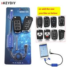 KEYDIY minitecla KD para control remoto, generador de mandos a distancia, almacén en tu teléfono, compatible con Android, control remoto de más de 1000 automático + mando a distancia de la serie B