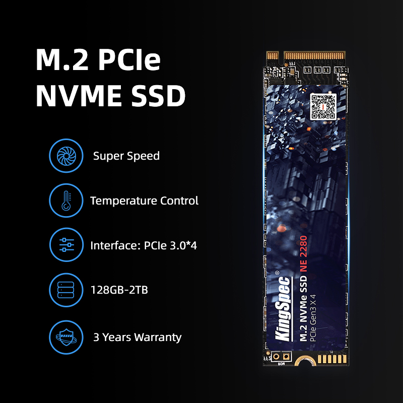 Kingspec M2 Ssd Nvme 256Gb 512Gb 1Tb 128Gb M.2 2280 Pcie Ssd Interne Solid State Drive voor Laptop Desktop Ssd Drive 5