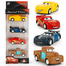 Children's Car Toys 1:64 Cartoon Movies Comic Alloy Model 4 PCS A Set Chrismas Gift Birthday Present