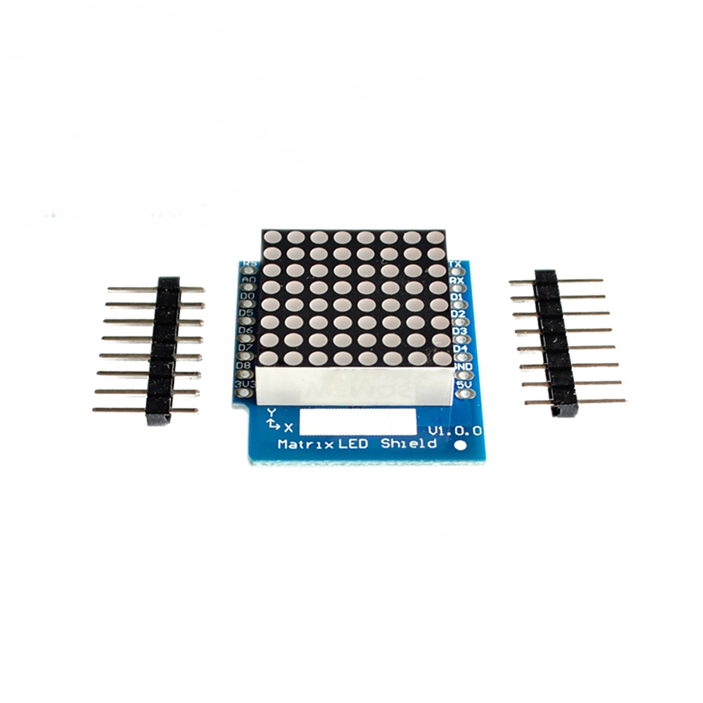Matrix LED Shield V1.0.0 For WEMOS D1 Mini Digital LED Display Signal Output Controller Module 8 X 8 Dot  Matrix Display Board