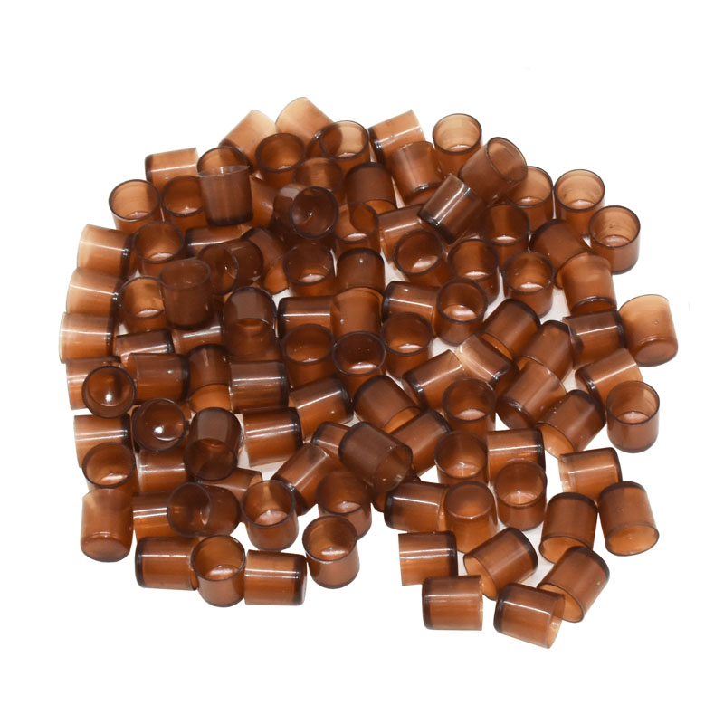120 Pcs Bee Queen Rearing King New Plastic Brown Color Cells Cages Room Cups Cell Cage Cup Bees Tools Beekeepers Equipment