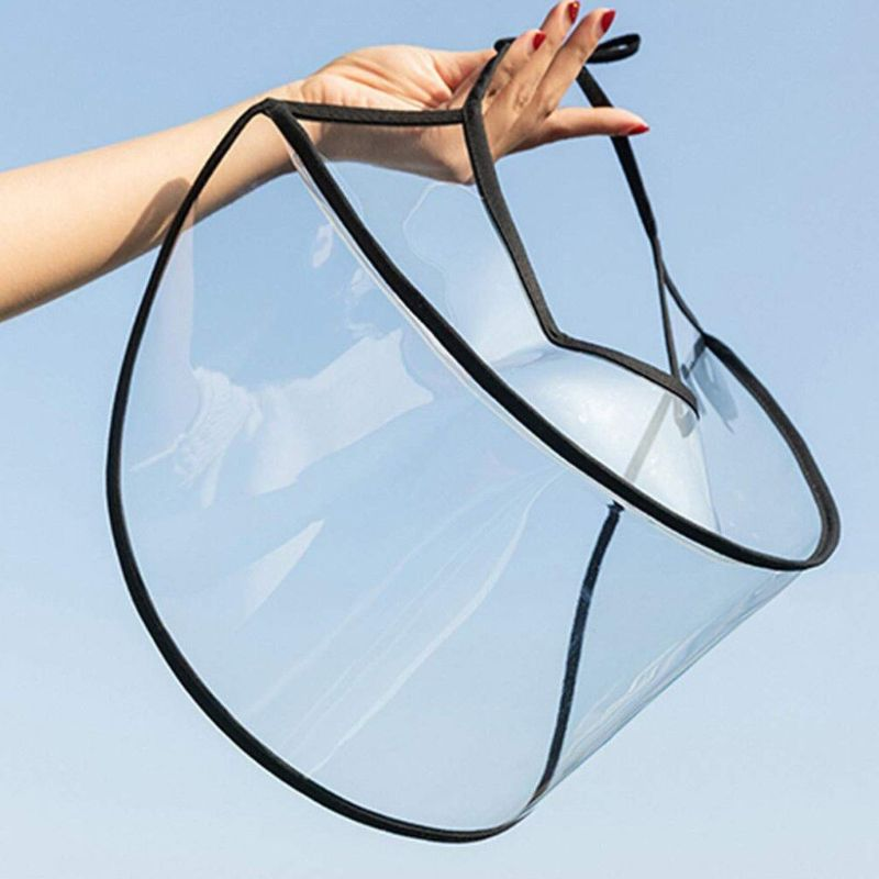 Transparent Plastic Face Mask Cover Full Facial Eyes Mask Safety Adjustment Anti-saliva Anti Droplet Dust-proof Visor Shield